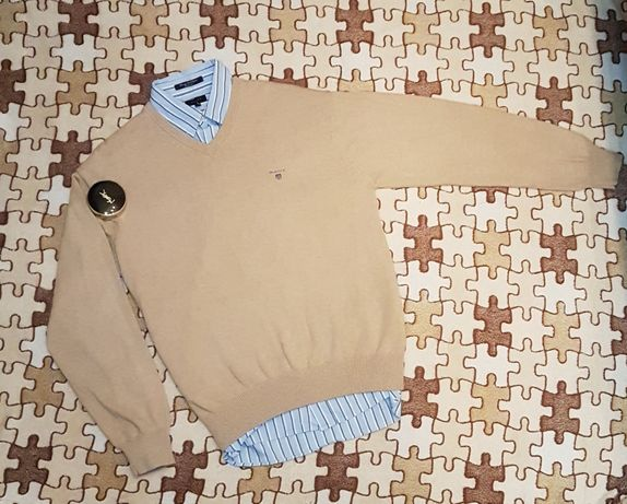 Комплект от Gant, пуловер + рубашка