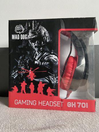 Słuchawki gamingowe firmy Mad dog