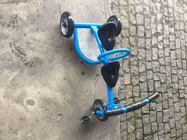 Triciclo Bi-Lugar Tandem e Carrinho Pedais 4 Rodas com Travão