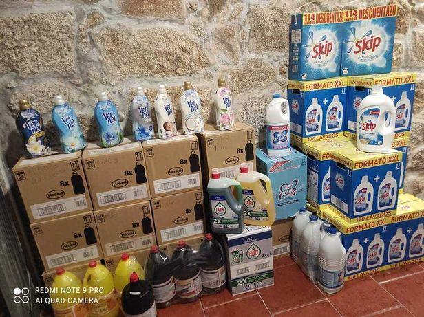 Diversos produtos limpeza