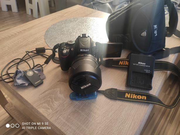 Nikon D5100 obiektyw 18-105 mm