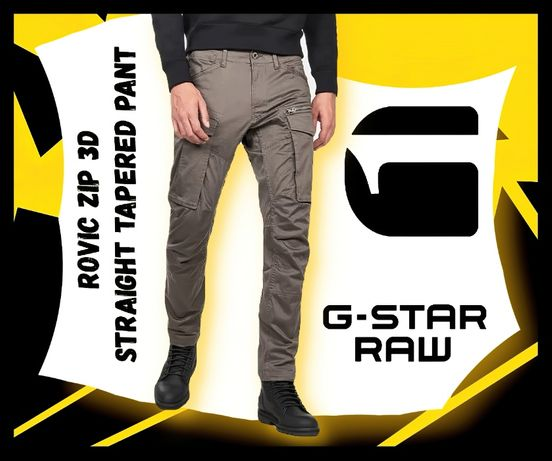 Rovic Zip 3D Straight Tapered Pant W33 / L32 GS Grey
