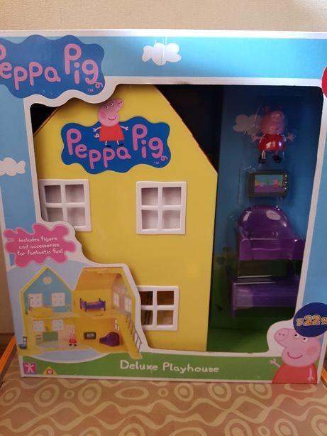 Peppa Загородный дом фигурка свинка Пеппа домик пеппы Делюкс
