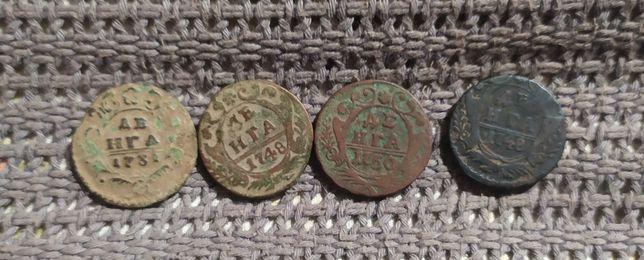 Деньга 1731, 1748, 1750