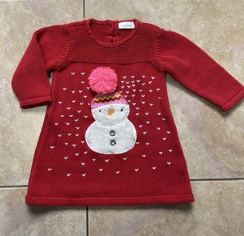 Новогодний свитер светр новорічний туника платье next некст