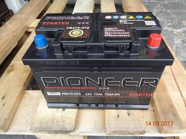 Nowy akumulator rozruchowy Pioneer 70Ah 72Ah 74Ah 75Ah P+ L-