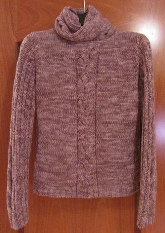 sweter 36 (S) Reserved fioletowy melanż golf