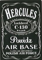 Naklejki naklejane w samolocie Herkules