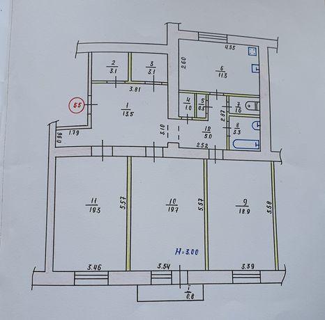 3-комнатная Сталинка на СТРЕЛЕ, Соборности, 7, Соцгород, Дзержинка