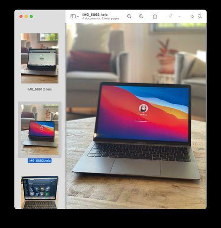 MacBook Air 13 polegadas Retina, 16 GB RAM, 256GB HDD Ano 2019