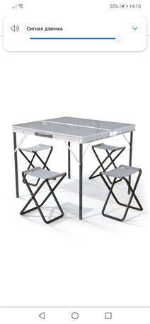 Стол со стульями/стол для пикника/стіл для пікніка/комплект стол 4 сту