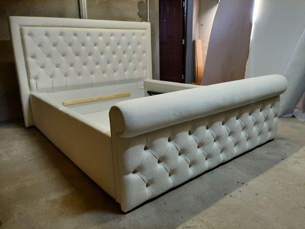 Łóżko sypialniane, tapicerowane CEZARELLA - oryginalny design,pikowane