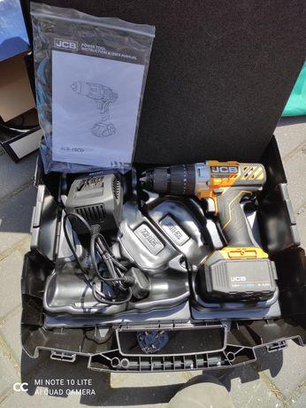 Wkrętarka udarowa akumulatorowa JCB - 18CD 5Ah + walizka Polecam