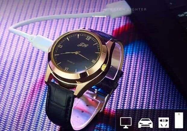 Nowy elegancki zegarek z zapalniczka