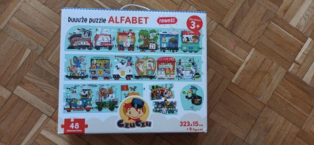 Puzzle czuczu pociąg alfabet