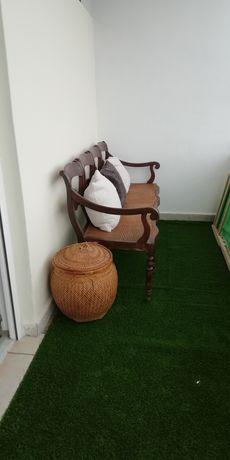 Canapé em madeira Carvalho
