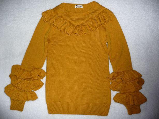 Sweter Tezenis musztardowy S