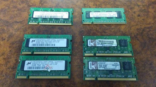 Оперативная память DDR2 512 МБ для ноутбуков