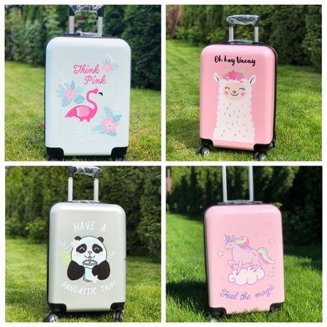 КАЧЕСТВО! Детский пластиковый чемодан фламинго единорог Валіза дитяча