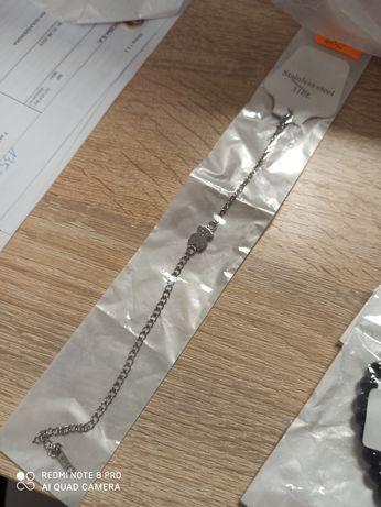 Bransoletka TOUS na srebrny łańcuszku regulowana NOWA