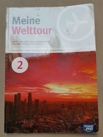 """Zeszyt ćwiczeń do j.niemieckiego """"Meine Welttour"""""""