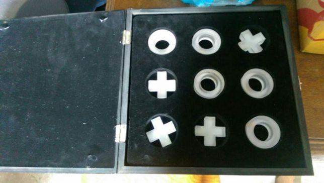 Gra kółko-krzyżyk-szklane,drewniane