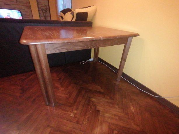 Duży masywny stół 2.80 m i sześć krzeseł
