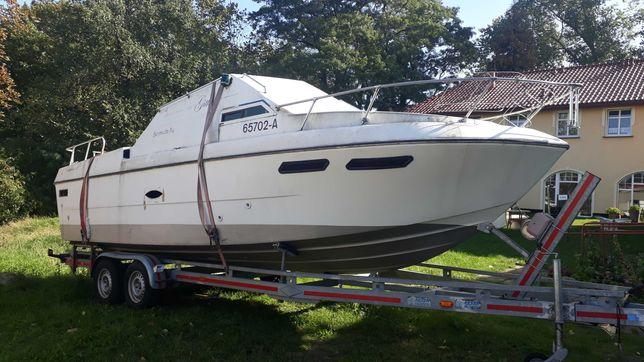 Łódź 7,5 m motorowa houseboat motorówka jacht motorowy kabinowa