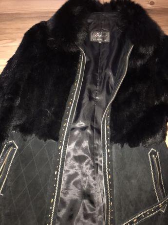 Куртка дубленка шуба полушубок кролик