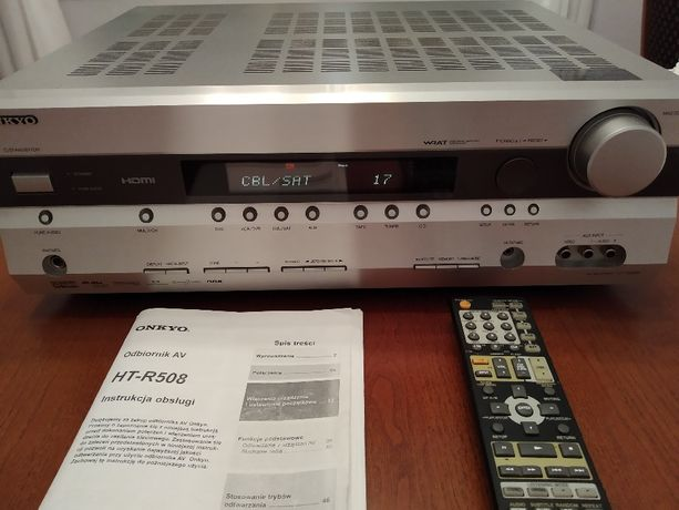 Kino domowe 5.1, Onkyo HT-R508, głośniki M Audio HCS - 9920 i Sub 10