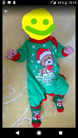 Детский наряд для новорожденного на новый год