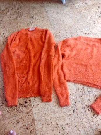 Свитер кроп топ оранжевый апельсин футболка поло