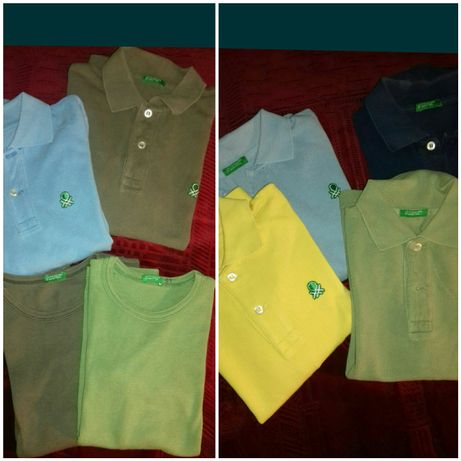 Polos e t-shirts Benetton 4 e 6 anos