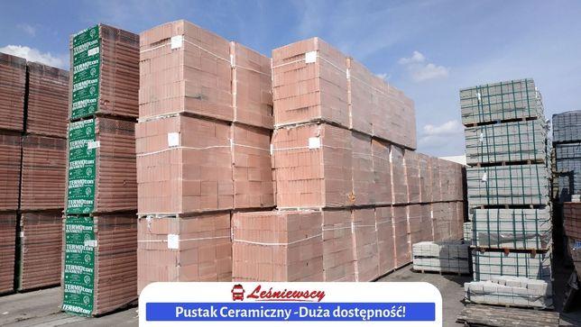 Pustak ceramiczny CEGŁA-STOPKA 375x250x238 P+W Dostawa na budowę z HDS