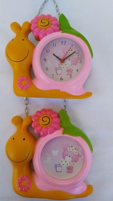 """Детские часы ,(будильник) и фоторамка """"Веселая гусеница"""""""