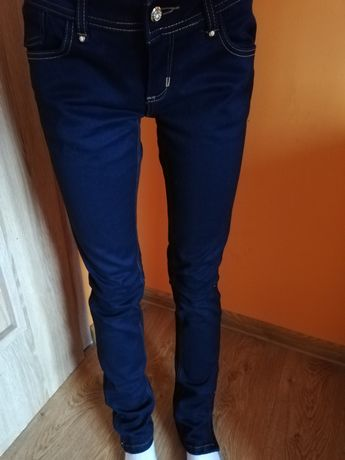 Ciemne jeansy M