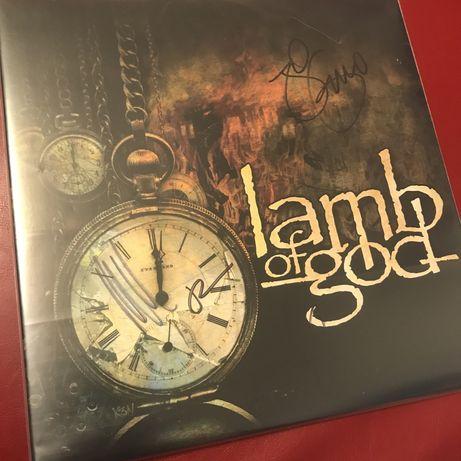 Винил Lamb Of God с автографами группы