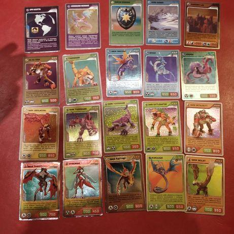 Karty Invizimals 5 złotych 5 srebrnych 10 metalowych
