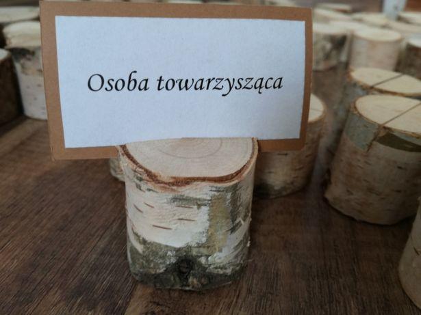 Drewniane winietki , rustykalne ,podstawki pod winietki