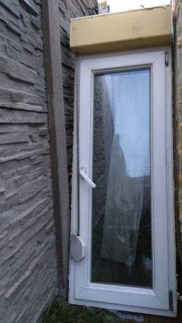 Okno PCV 57x161 z roletą zewnętrzną