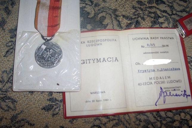 Medal 40-to lecia Polski Ludowej