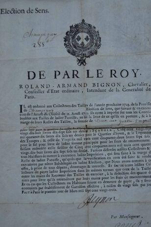 De Par Le Roy Roland - Armand Bignon (documento 1723)