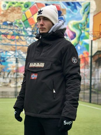 Тёплая куртка анорак Napapijri напапири мужская зимняя парка напа
