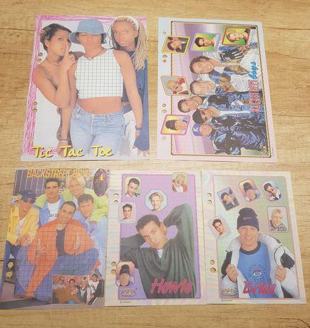 Karteczki do segregatora lata 90 Backstreet Boys