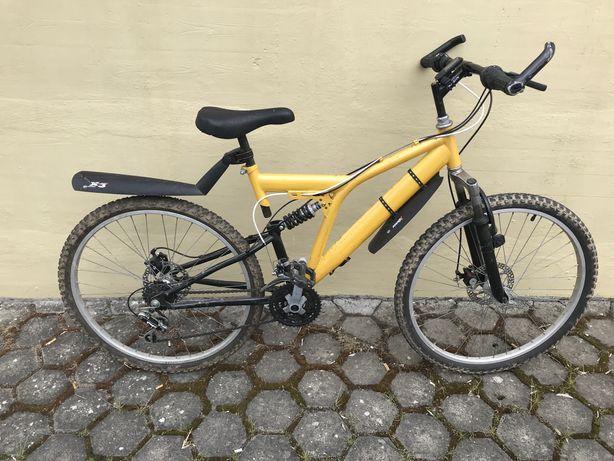 Bicicleta roda 26 suspensao dupla