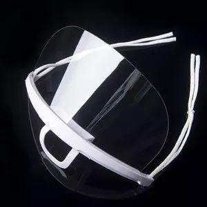 Маска многоразовая, прозрачная, пластиковая, безразмерная