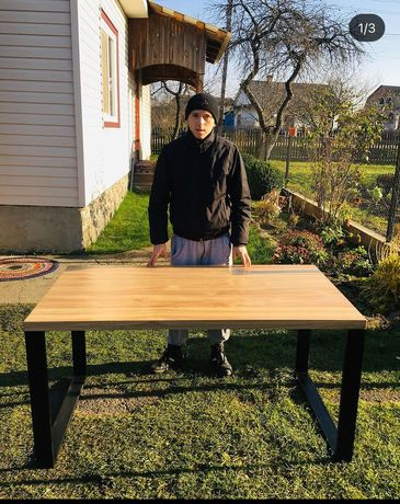 Кухонний стол. Лофт. Дуб. Ясен. Журнальний стіл