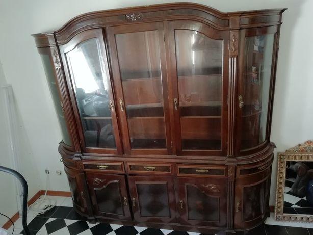 Louceiro/vitrine madeira maciça