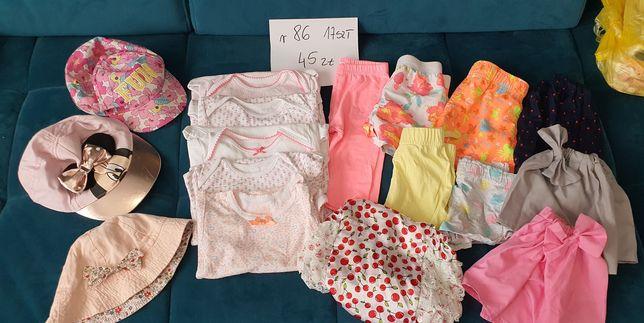 Zestaw ubranek dla dziewczynki na lato rozmiar 86