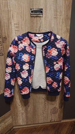 Bluza w kwiatki r. 140